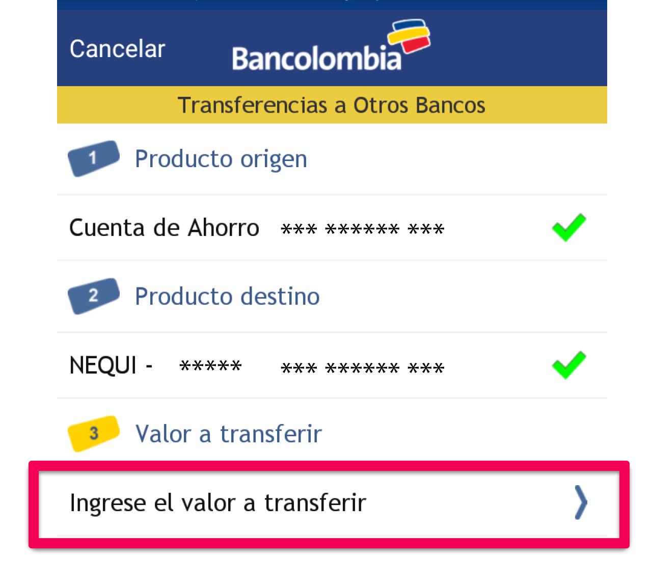 ahorro a la mano bancolombia